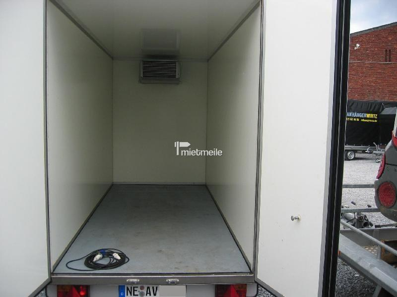 Kühlanhänger mieten & vermieten - Kühlkoffer 3,60m +2°C / 220Volt, abschließbar in Grevenbroich