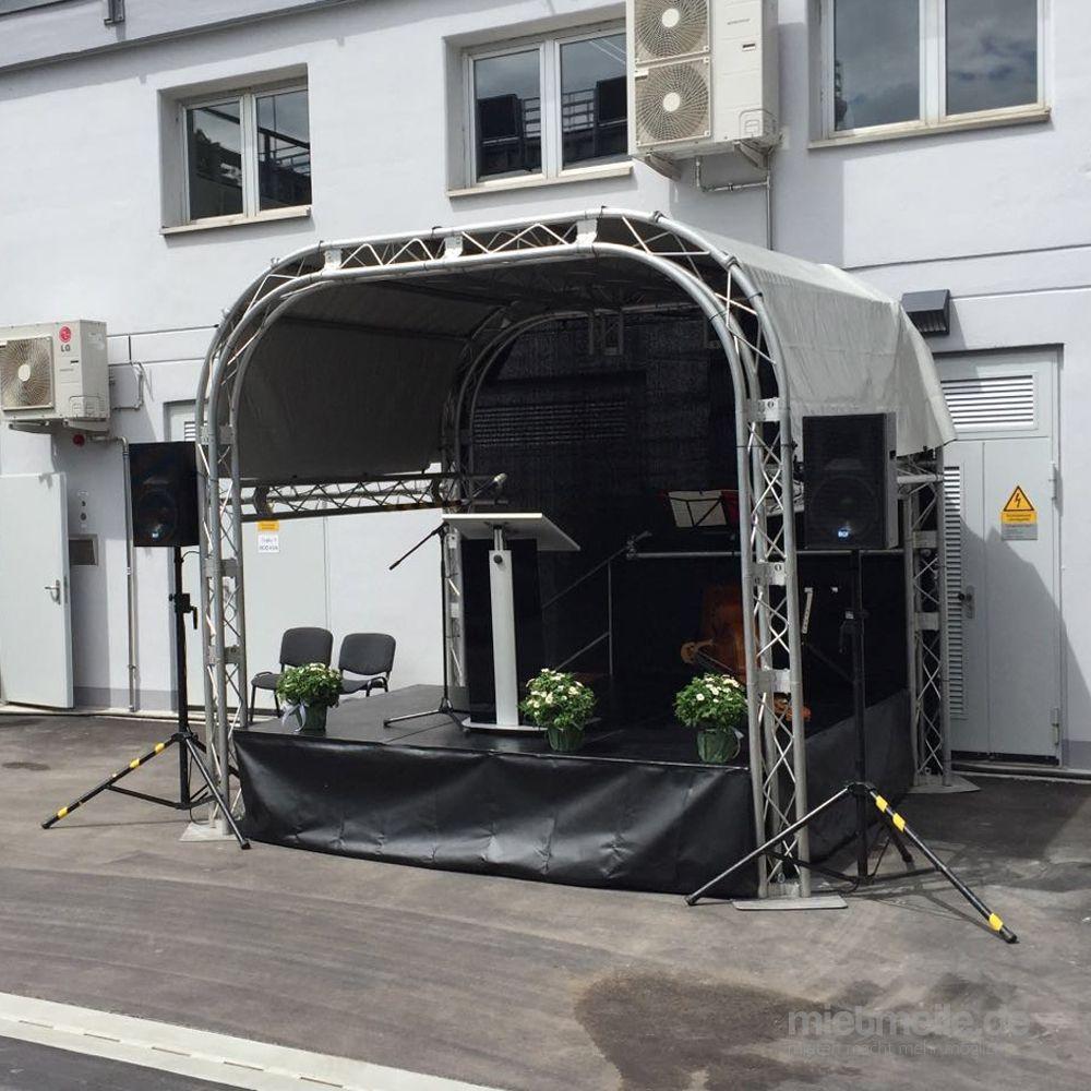 """Bühne mieten & vermieten - Mobile Bühne und Bühnentechnik, Veranstaltungsbühne, Bühnendach """"Mini Stage"""" 3,00 x 3,50 m in Remchingen"""