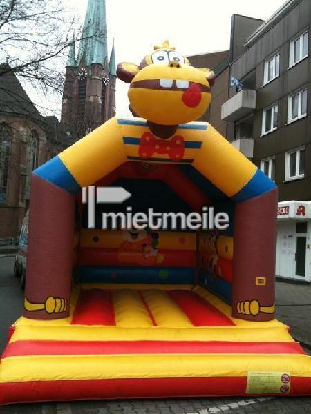 Hüpfburg mieten & vermieten - Hüpfburg Affe mit Dach in Bottrop