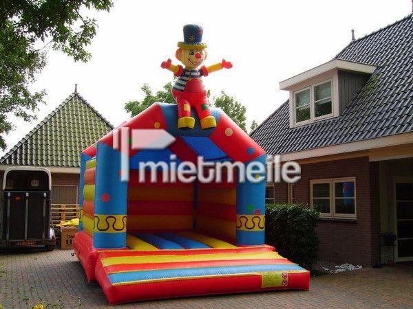 """Hüpfburg mieten & vermieten - Hüpfbug 4x5m """"klatschender Clown"""" inclusive Lieferung, Auf-Abbau, Abholung in Alfter"""