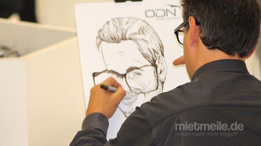 Schnellzeichner mieten & vermieten - Karikaturist Mirror-Man in Köln