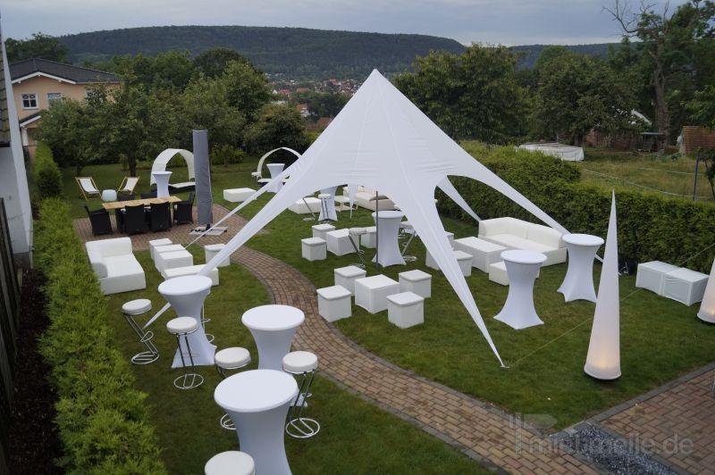 Hochzeitsfeier mieten & vermieten - Loungemöbel, Zelt, Dekoration Catering, Getränke in Leinefelde