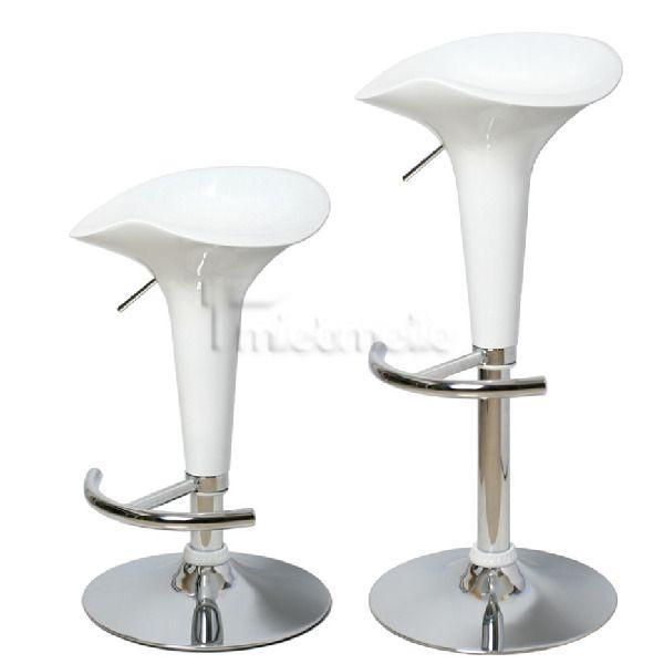 Stühle mieten & vermieten - Barhocker in weißem Leder in Leinefelde