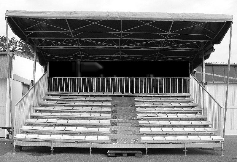 Bühne mieten & vermieten - Mobile Tribüne Bravo - 122 Sitzplätze in Waldshut-Tiengen