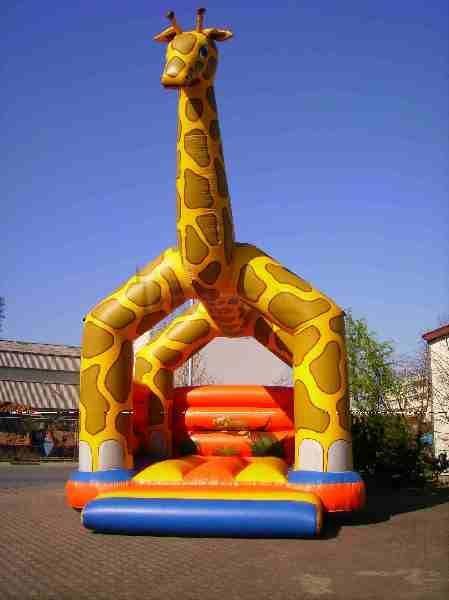 Hüpfburg mieten & vermieten - Hüpfburg Giraffe mieten in Mainz, Frankfurt M. in Ginsheim-Gustavsburg
