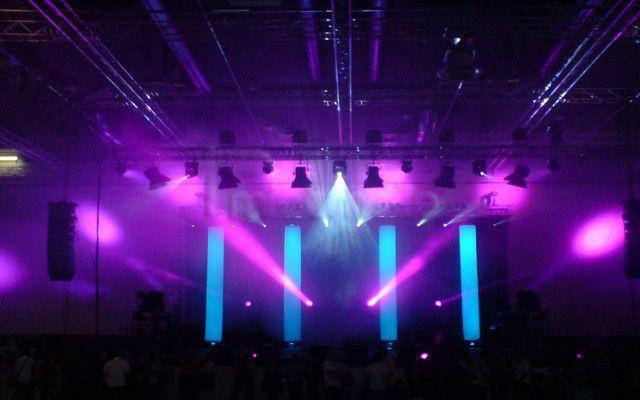 Dekoration mieten & vermieten - Stoffsäulen Lichtsäulen Bühnendekoration mieten  in Dresden