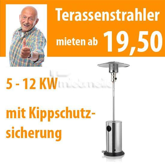Fackeln & Feuereffekte mieten & vermieten - Terrassenstrahler Edelstahl - Heizpilz, Partystrah in Dresden