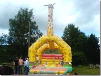 Hüpfburg mieten & vermieten - Hüpfburg 6x7 Meter, Giraffe   Inkl. MWSt. in Sinsheim