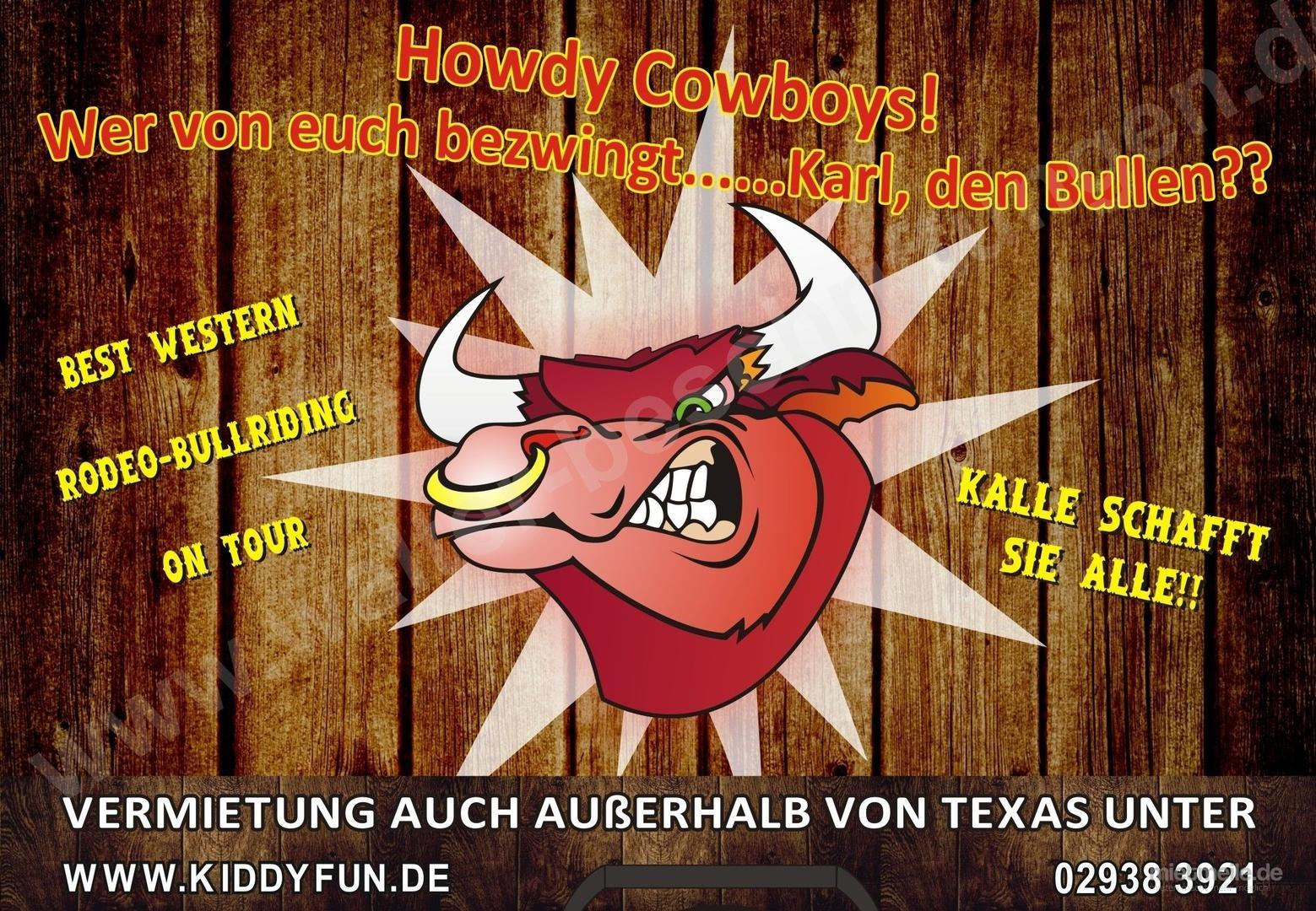 Großspielgeräte mieten & vermieten - Bullriding - Bullenreiten mieten arnsberg, soest, hamm, in Ense