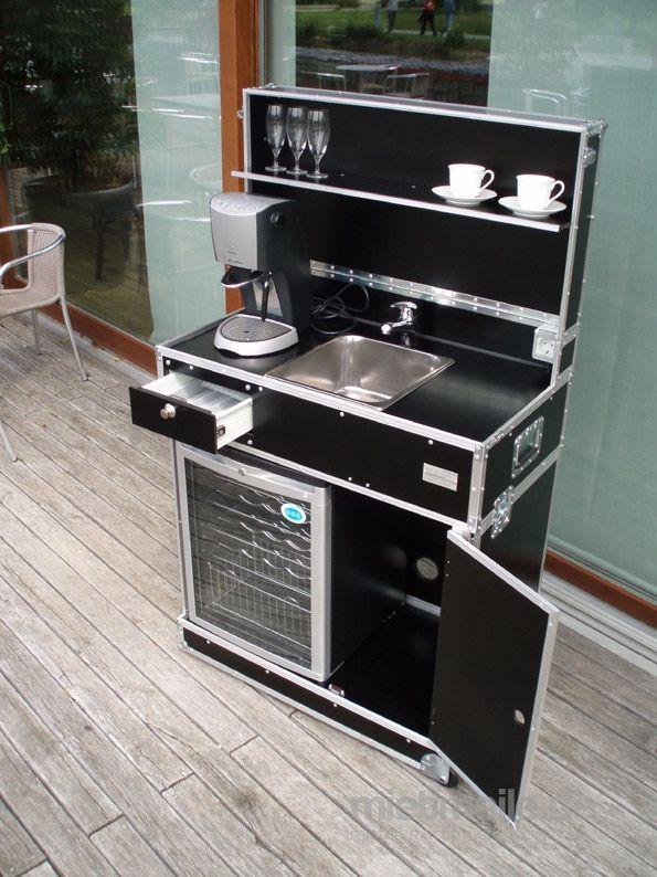 Mobile Bar mieten & vermieten - Vermietung, mobile Küche, Messeküche, Kofferküche, Mietküche, mobiles Hand-Waschbecken, mobiles Spülbecken in Bingen am Rhein