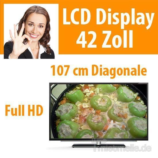 "LCD Monitore mieten & vermieten - 42"" LCD Display Fernseher TV in Dresden"