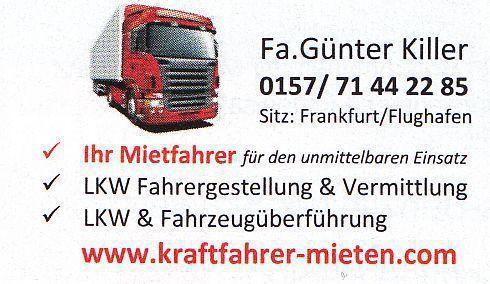 LKW Fahrer mieten & vermieten - Lkw Fahrer zum Mieten - Aushilfsfahrer in Frankfurt am Main