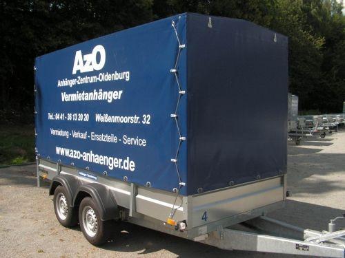 Planenanhänger mieten & vermieten - 3,5m Anhänger mit Hochplane - Innenhöhe 190 cm Nutzlast 1400kg in Oldenburg (Oldenburg)