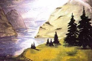Kulissen mieten & vermieten - Fjord Kulisse, Kulisse, Fjord, Talsee, See, Skandinavien, Norwegen, Schweden, Finnland, Dekoration, Event, Messe in Kamp-Bornhofen