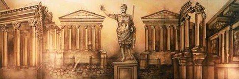 Kulissen mieten & vermieten - Griechenland Kulisse, Kulisse, Griechenland, Grieche, griechisch, Antik, Tempel, Tempelanlange, Säulen, Säulentempel in Lahnstein
