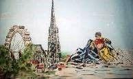 Kulissen mieten & vermieten - Wien Kulisse, Wien, Österreich, Hauptstadt, Wiener, Stadt, Stadtkulisse, Kulisse, Ski, Riesenrad, Kirchturm, Turm in Kamp-Bornhofen