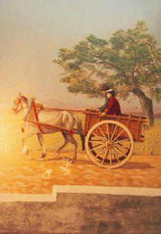 Kulissen mieten & vermieten - Spanische Pferdewagen Kulisse, Spanien, Pferd, Wagen, Kutsche, Pferdekutsche, Karren, spanisch, Dekoration, Kulisse in Kamp-Bornhofen