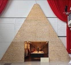 Kulissen mieten & vermieten - Pyramide Kulisse, Kulisse, Eingangsrahmen, Eingang, Rahmen, Pyramide, Ägypten, ägyptisch, Grab, Pharao, Weltwunder in Kamp-Bornhofen