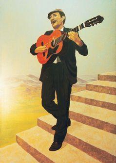 Kulissen mieten & vermieten - Spanische Sänger Kulisse, Sänger, spanisch, Spanien, Sängerkulisse, Gitarrenspieler, Gitarre, Dekoration, Minnesänger in Kamp-Bornhofen