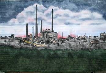Kulissen mieten & vermieten - Industrie im Ruhrgebiet Kulisse, Kulisse, Industrie, Industrieturm, Ruhrgebiet, Ruhrpott, Industriell, Dekoration in Kamp-Bornhofen