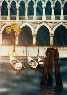 Kulissen mieten & vermieten - Venedig im Schnee Kulisse, Venedig, Schnee, Kulisse, venezianisch, Dekoration, Kanal, Italien, italienisch, Gondel in Kamp-Bornhofen