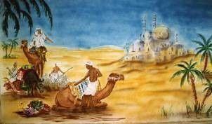 Kulissen mieten & vermieten - Kamel Kulisse, Kulisse, Karawane, Kamel, Wüstenschiff, Wüste, Sahara, Afrika, Ägypten, Nomade, Dekoration, Event, Messe in Kamp-Bornhofen