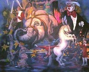 Kulissen mieten & vermieten - Zirkus Manegen Kulisse, Zirkus, Cirkus, Manege, Kulisse, Spaß, Unterhaltung, Domteur, Dekoration, Event, Messe in Kamp-Bornhofen