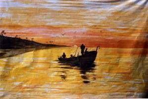 Kulissen mieten & vermieten - Fischer auf See Kulisse, Kulisse, Fischer, See, Fischerboot, Fischerboot Kulisse, Angler, Angelboot, Angler auf See in Kamp-Bornhofen