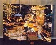 Kulissen mieten & vermieten - Schwimmender Markt Kulisse, Kulisse, Markt, Schwimmender Markt, Wasser, Wassermarkt, Boot, Dekoration, Veranstaltung in Kamp-Bornhofen
