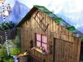 Kulissen mieten & vermieten - Ski- & Wander- Almhütte Hausfassade, Wanderhütte, Almhütte, Skihütte, Hütte, Alpen, Alpenhütte, Hüttchen, Fassade in Kamp-Bornhofen