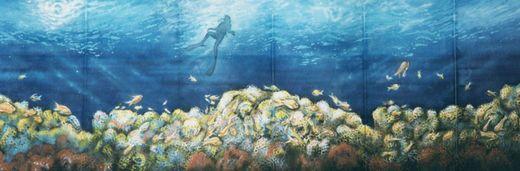 Kulissen mieten & vermieten - Korallenriff Kulisse, Krallen, Korallenriff, Riff, Unterwasser, Unterwasserwelt, Wasser, Meer, Ozean, Kulisse in Lahnstein