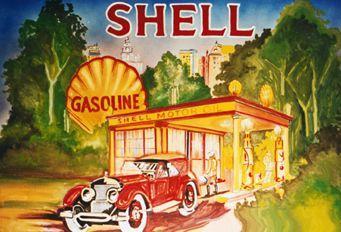 Kulissen mieten & vermieten - Shell Gasoline Kulisse, Gasoline, Shell, Tankstelle, Tanke, Kulisse, Dekoration, Event, Messe, Veranstaltung, leihen in Kamp-Bornhofen