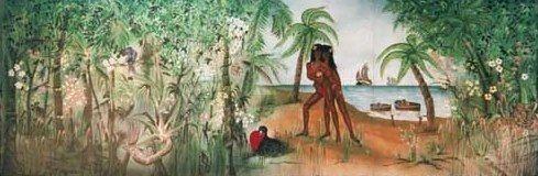Kulissen mieten & vermieten - Brasilien Kulisse 1, Kulisse, Brasilien, Dekoration, brasilianisch, Südamerika, Dschungel, Karibik, Event, Messe in Kamp-Bornhofen