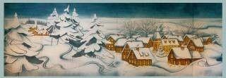Kulissen mieten & vermieten - Winterdorf Kulisse, Winter, Winterdorf, Alpendorf, Gebirgsort, Dorf, Kulisse, Schnee, Schneedorf, Schneebedeckt in Kamp-Bornhofen