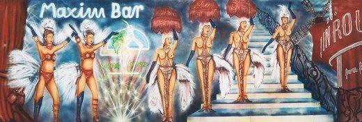 Kulissen mieten & vermieten - Maxim Bar Kulisse, Maxim Bar, Bar, Kulisse, Dekoration, Showkulisse, Show, Tanzshow, Tanzkulisse, Tanz, Showtanz, Event in Lahnstein