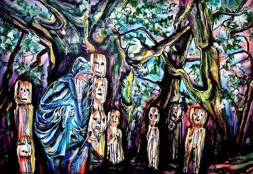 Kulissen mieten & vermieten - Halloween Waldgeister Kulisse, Halloween, Waldgeister, Geister, Gespenst, Grusel, Kulisse, Dekoration, Gespenster in Kamp-Bornhofen