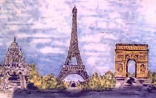 Kulissen mieten & vermieten - Eiffelturm Kulisse, Eiffelturm, Kulisse, Dekoration, Paris, Frankreich, France, Wahrzeichen, Triumphbogen in Kamp-Bornhofen
