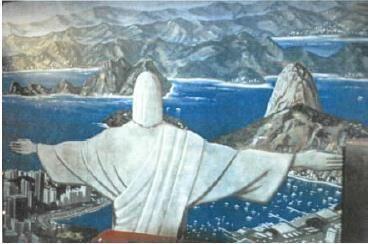 Kulissen mieten & vermieten - Zuckerhut Kulisse, Zuckerhut, Copacabana, Brasilien, Rio, Rio de Janeiro, Jesusstatue, Kulisse, Dekoration, Party in Kamp-Bornhofen