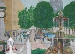 Kulissen mieten & vermieten - Düsseldorf Kö Kulisse, Düsseldorf, Kulisse, Stadtkulisse, Stadt, Dekoration, Brunnen, Brunnenkulisse, Event, Messe in Kamp-Bornhofen
