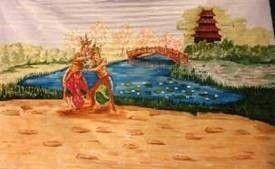 Kulissen mieten & vermieten - Chinesische Tempeltänzer Kulisse, China, chinesisch, Tempel, Tempelanlage, Tempeltänzer, Tänzer, Japan, japanisch in Kamp-Bornhofen