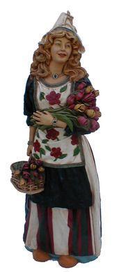Dekofiguren mieten & vermieten - Niederländerin Figur, Niederlande, Holland, Holländerin, Niederländerin, Blumenmädchen, Blumen, Figur, Dekoration in Kamp-Bornhofen