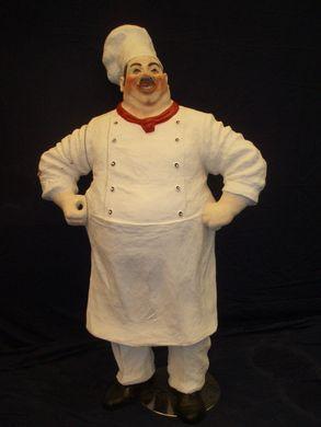 Dekofiguren mieten & vermieten - Frankreich Koch Dick, Französisch, Figur, Frankreich, France, Koch, Kochen, Küche, Restaurant, Dünner Koch, Paris in Lahnstein