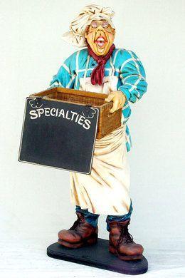 Dekofiguren mieten & vermieten - Konditor Figur mit Korb, Figur, Konditor, Bäcker, Bäckerei, Restaurant, Dekoration, Event, Messe, Veranstaltung, leihen in Kamp-Bornhofen