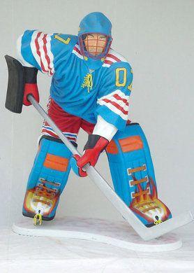 Dekofiguren mieten & vermieten - Eishockeyspieler Figur, Eishockey, Hockey, Kanada, Wintersport, Sport, Schlittschuhe, Schlittschuh, Figur in Lahnstein