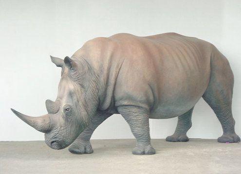 Dekofiguren mieten & vermieten - Nashorn Figur, Nashorn, Rhinozeros, Rhino, Figur, Tier, Wildtier, Zoo, Afrika, afrikanisch, Dekoration, Event, Messe in Lahnstein