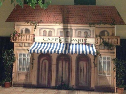 Dekofiguren mieten & vermieten - Frankreich Cafe de Paris Kulisse, Frankreich, Cafe, Cafe de Paris, Paris, France, Kulisse, Stadt der Liebe, Kulisse in Kamp-Bornhofen