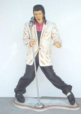 Dekofiguren mieten & vermieten - Elvis Figur mit Mikrofon, Elvis, Elvis Presley, Figur, Gitarrenspieler, King of Rock, Rock'n'Roll, Dekoration, Musik in Lahnstein