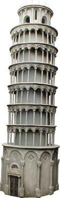 Dekofiguren mieten & vermieten - Schiefer Turm von Pisa, Pisa, Turm, Italien, Wahrzeichen, Antik, Pisaturm, italienisch, Dekoration, Toskana, Event in Kamp-Bornhofen