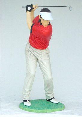 Dekofiguren mieten & vermieten - Golfer Figur, Figur, Golf, Golfer, Golfplatz, Abschlag, Spieler, Golfspieler, Sport, Sportart, Dekoration, Event, Messe in Kamp-Bornhofen