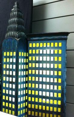 Dekorationsservice mieten & vermieten - Amerika Hochhaus Skyline, Amerika, Hochhaus, Skyline, USA, amerikanisch, USA Skyline, Wolkenkratzer, New York, Event in Kamp-Bornhofen